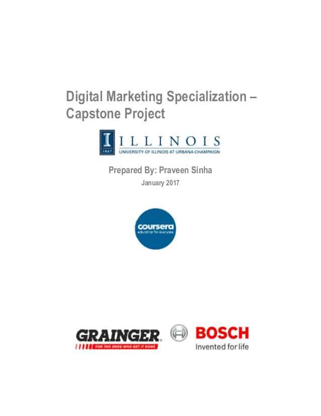 Coursera Digital Marketing Certification from University of Illinois